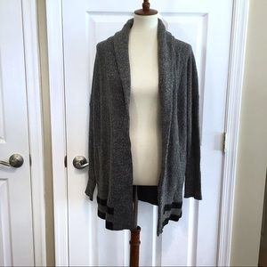 BANANA REPUBLIC Grey Marled Shawl Collar Sweater